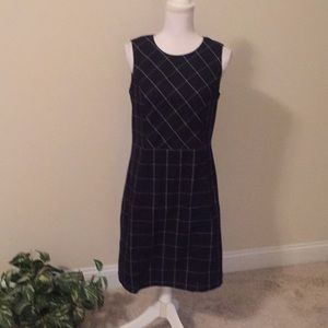 Lands End Black And White Dress